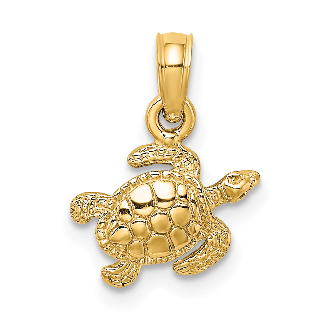 Silver Yellow Plated Turtles Charm 26mm