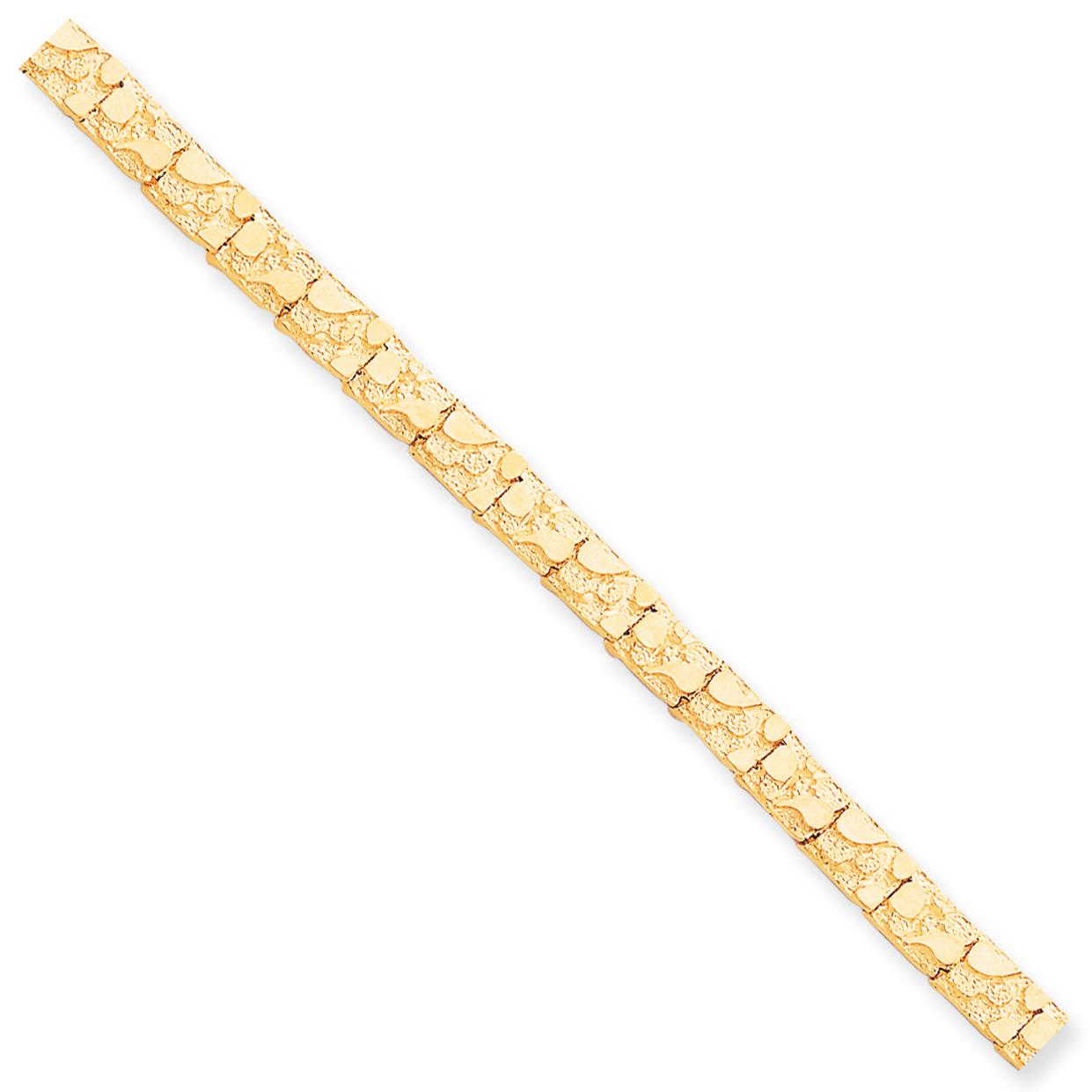 10k 7 Inch 6.0mm NUGGET Bracelet