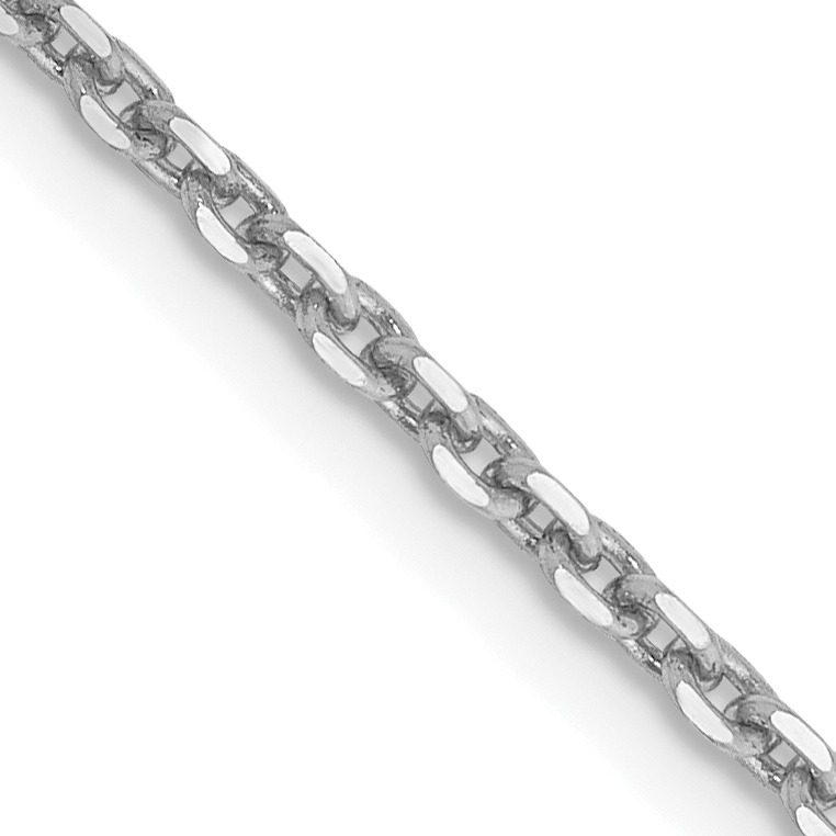 10k WG 1.65mm Solid D/C Cable Chain. Weight: 3.42,  Length: 16