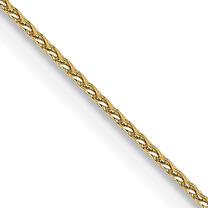 10k WG 1mm Spiga Pendant Chain. Weight: 1.23,  Length: 10