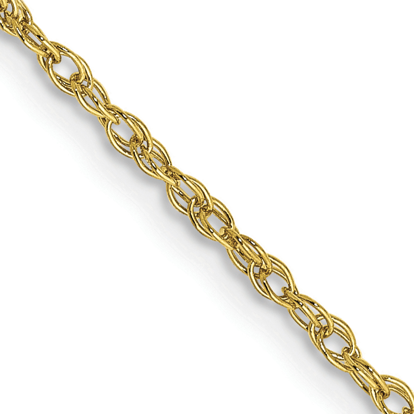 10k 1.3mm Heavy-Baby Rope Chain. Weight: 1.66,  Length: 16
