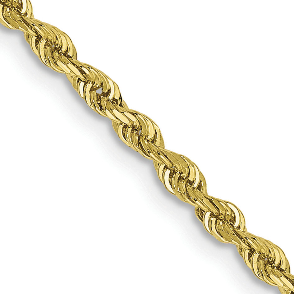 10k 2.25mm D/C Quadruple Rope Bracelet Weight: 3.38,  Length: 10