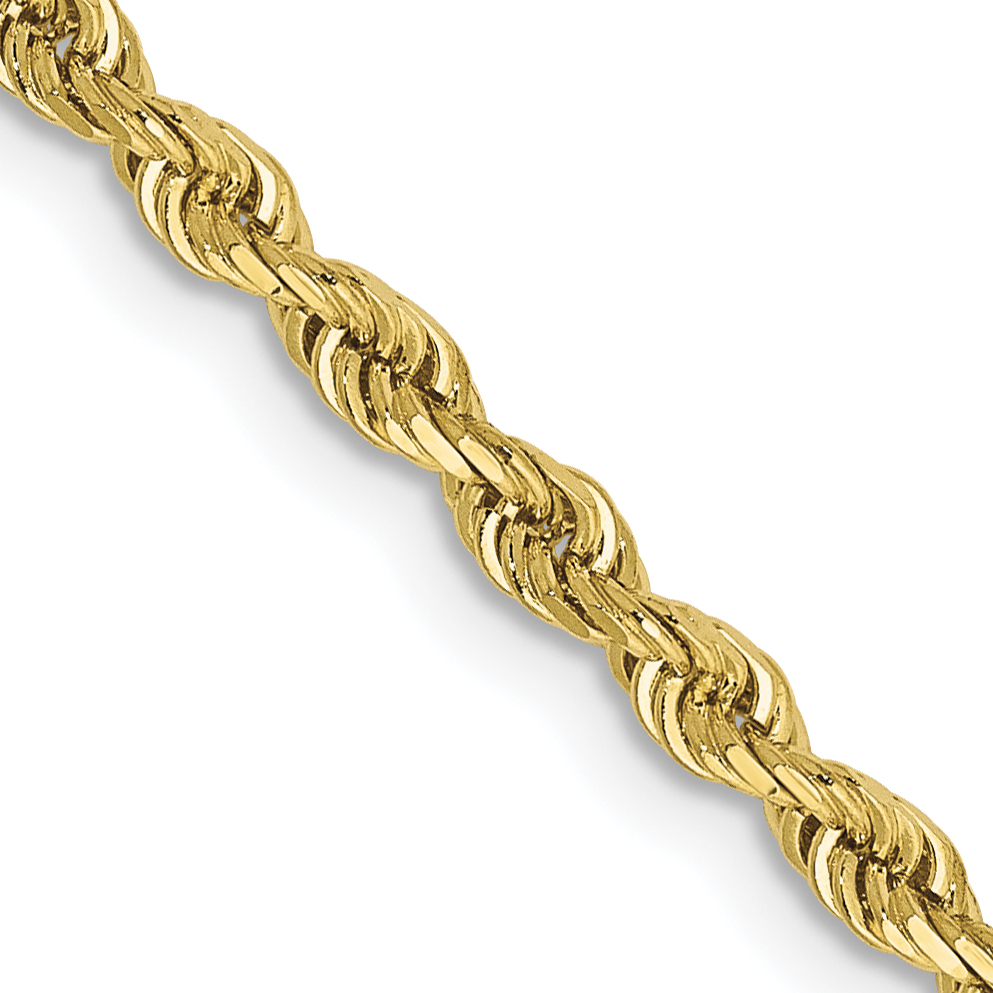 10k 2.75mm D/C Quadruple Rope Chain. Weight: 7.67,  Length: 16