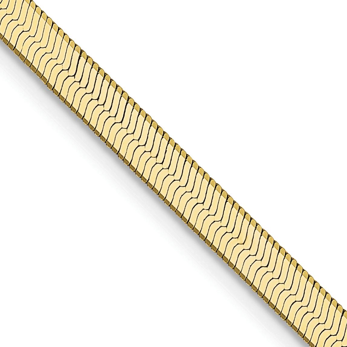 10k 3.0mm Silky Herringbone Chain. Weight: 4.61,  Length: 16