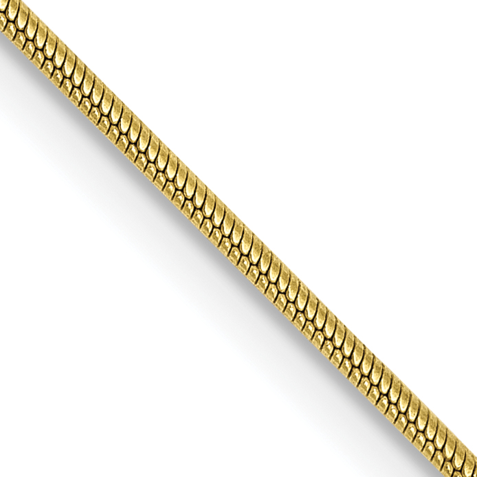 10k .90mm Round Snake Chain. Weight: 3.22,  Length: 16