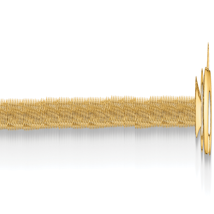 10k 1.25mm Spiga Chain. Weight: 2.42,  Length: 16