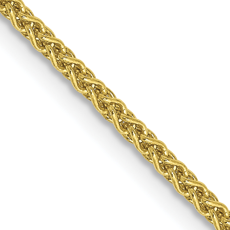 10k 1.65mm Solid Polished Spiga Chain. Weight: 4.2,  Length: 16