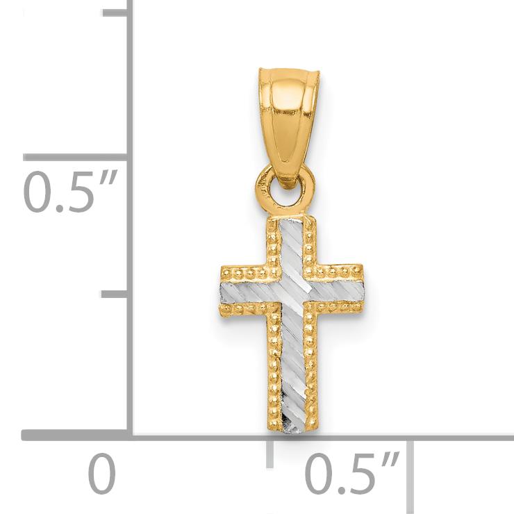10K Yellow Gold Latin Cross Charm Pendant