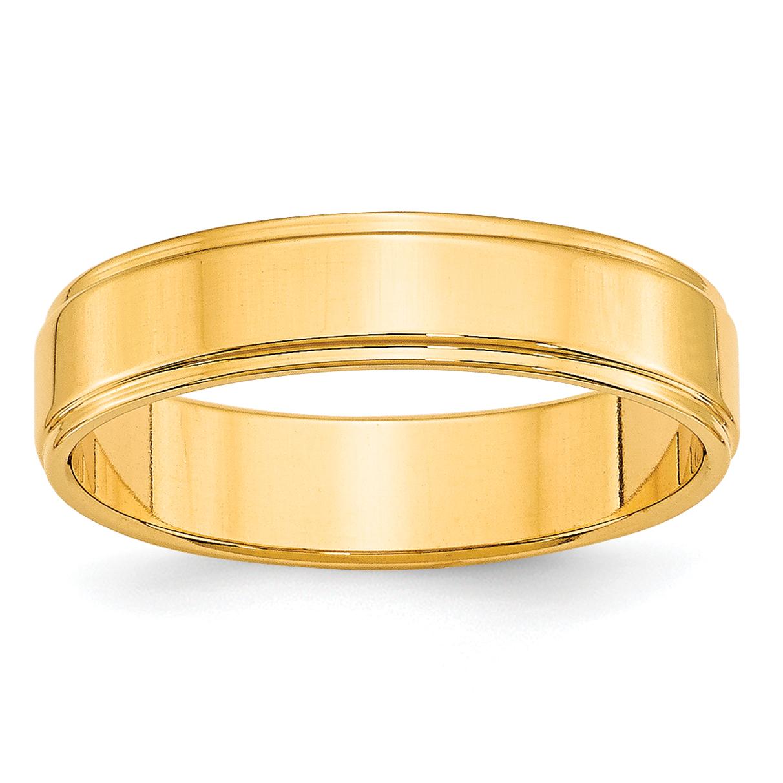 Engagement & Wedding Bridal & Wedding Party Jewelry 10k Yellow Gold 10 Mm Flat With Step Edge Wedding Band