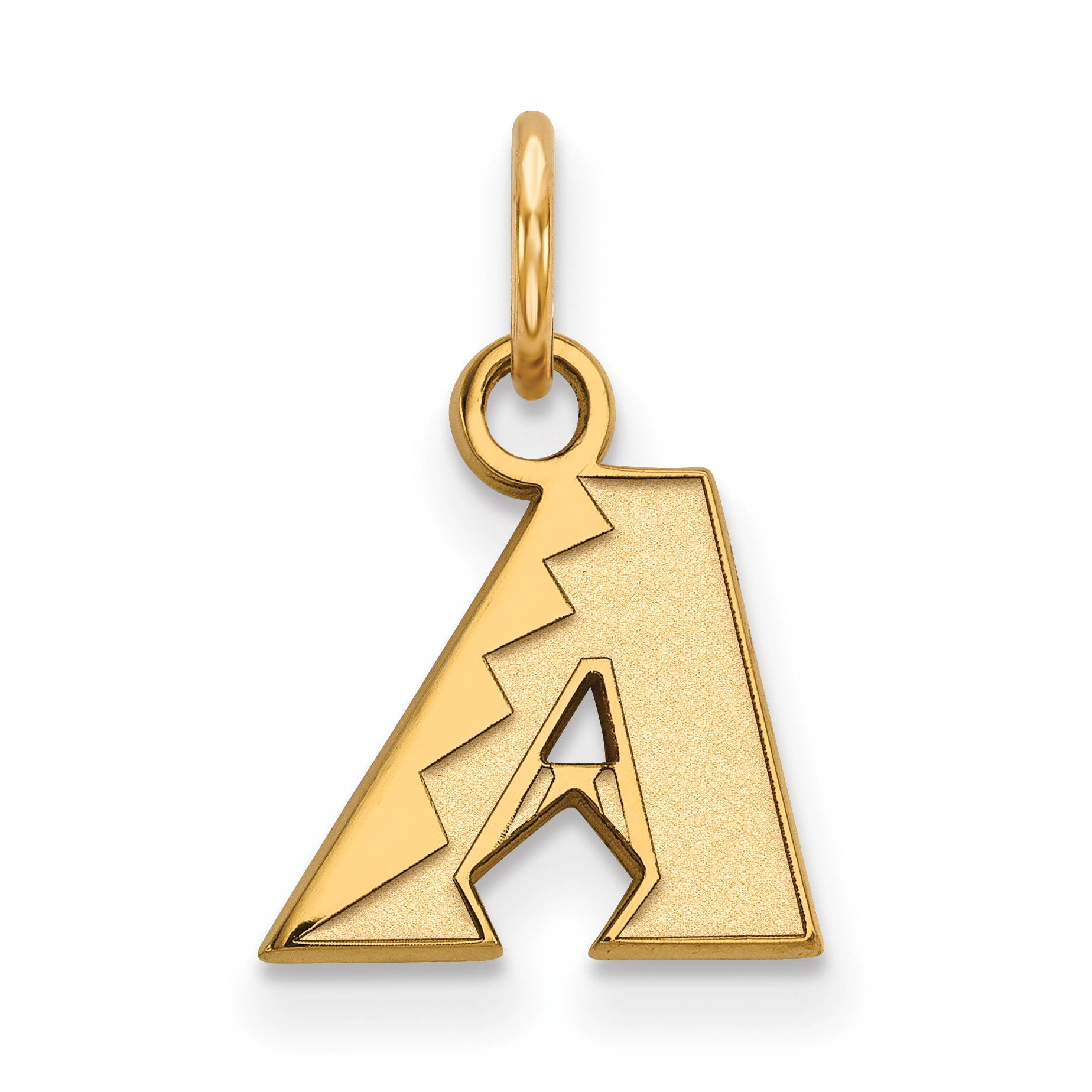 MLB Arizona Diamondbacks ARIZONA DIAMONDBACKS AMPED LOGO CRYSTAL EARRINGS Size One Size