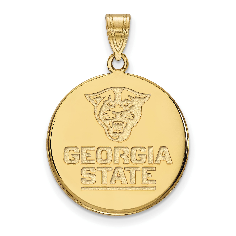 10ky LogoArt Georgia State University Large Disc Pendant