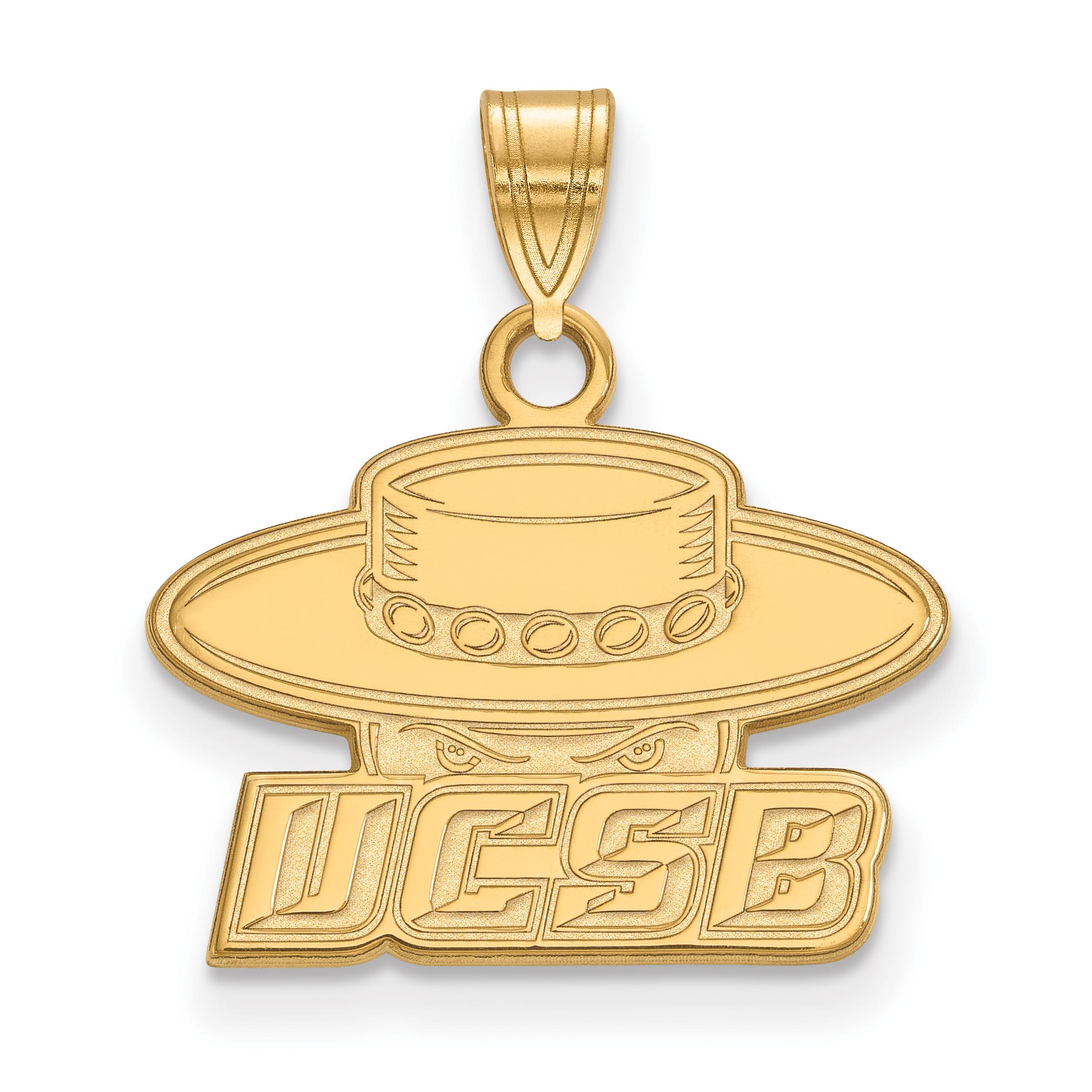 10ky LogoArt University of California Santa Barbara Small Pendant