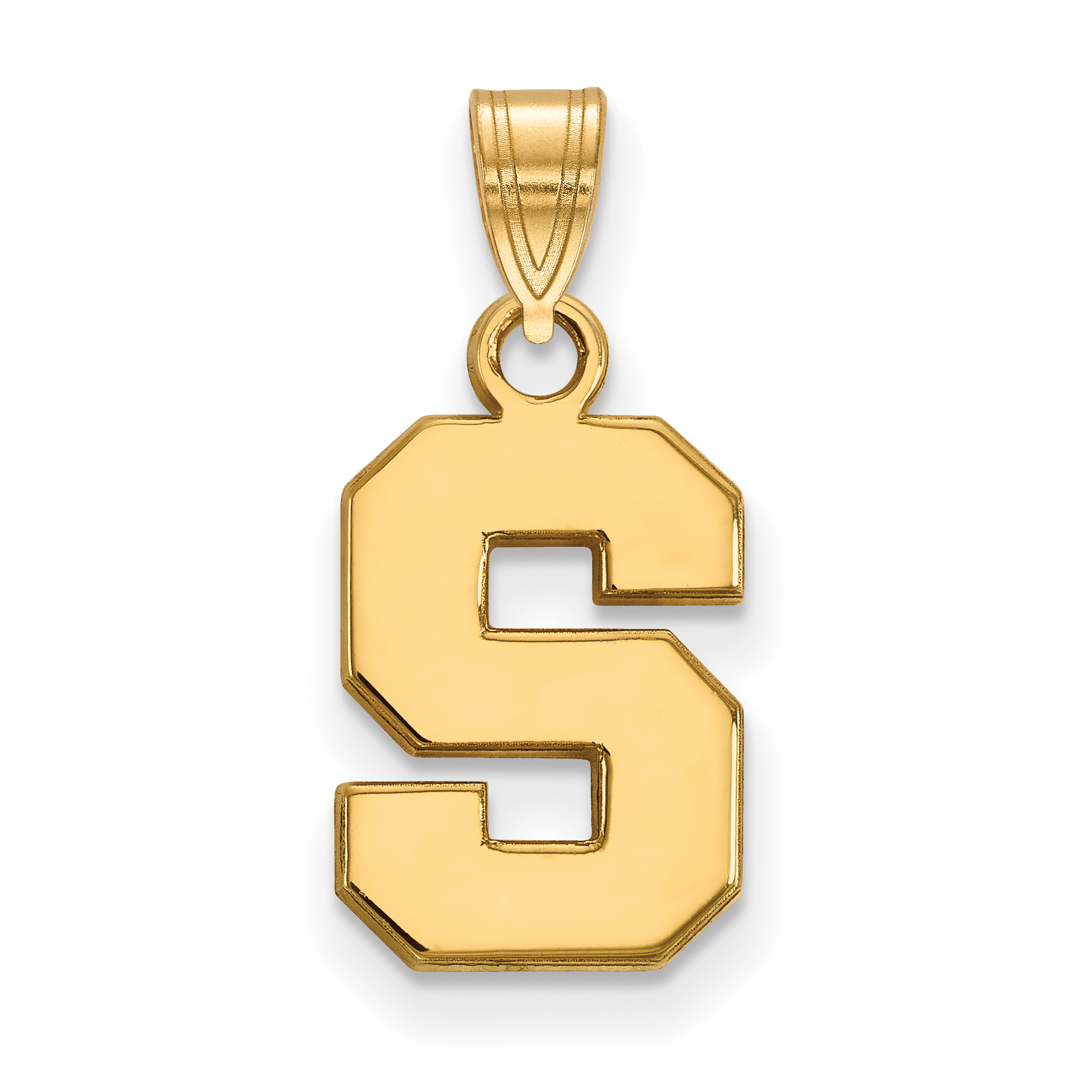 Sterling Silver Logoart Michigan State University Small Dangle Bead Fine Jewelry