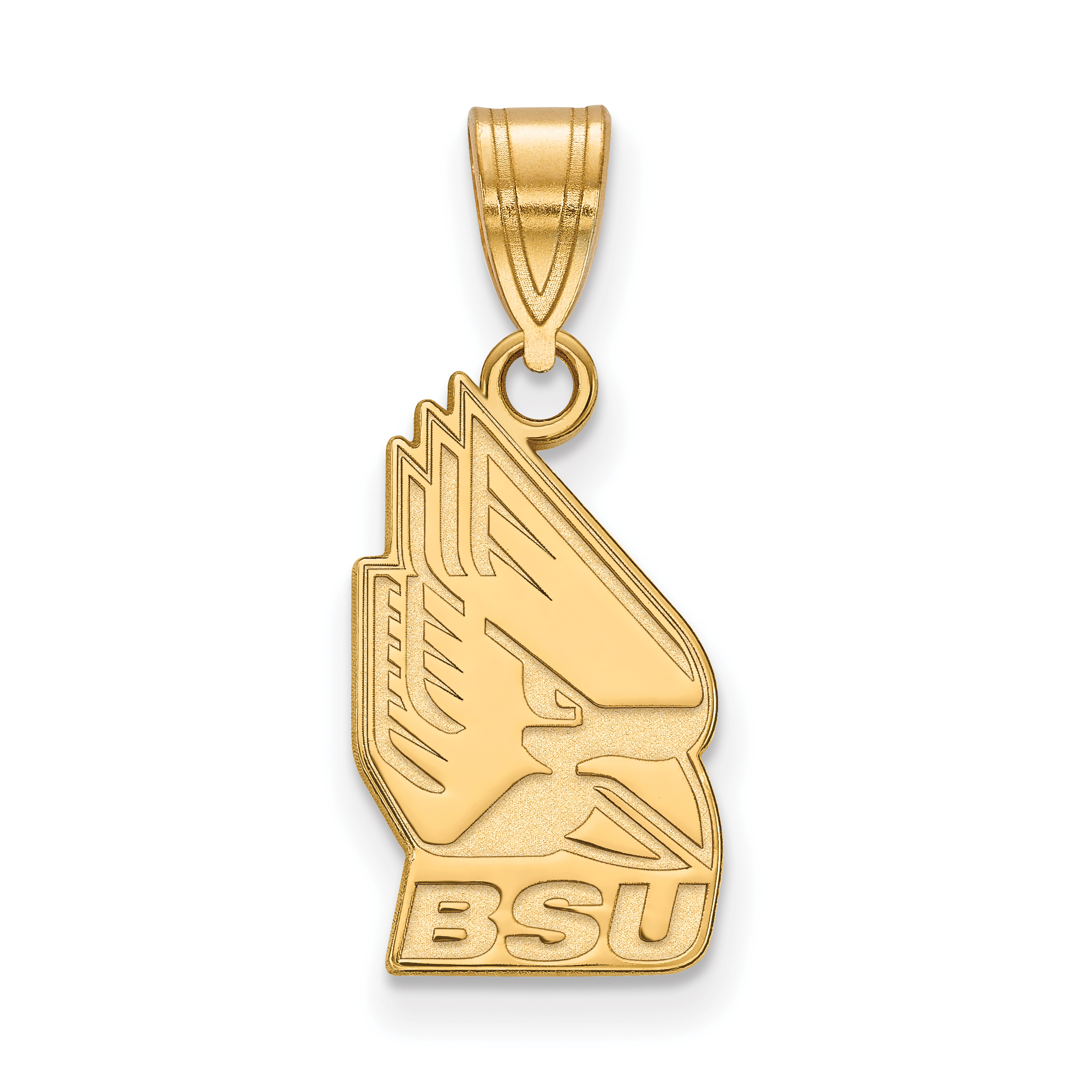 10ky LogoArt Ball State University Medium Pendant