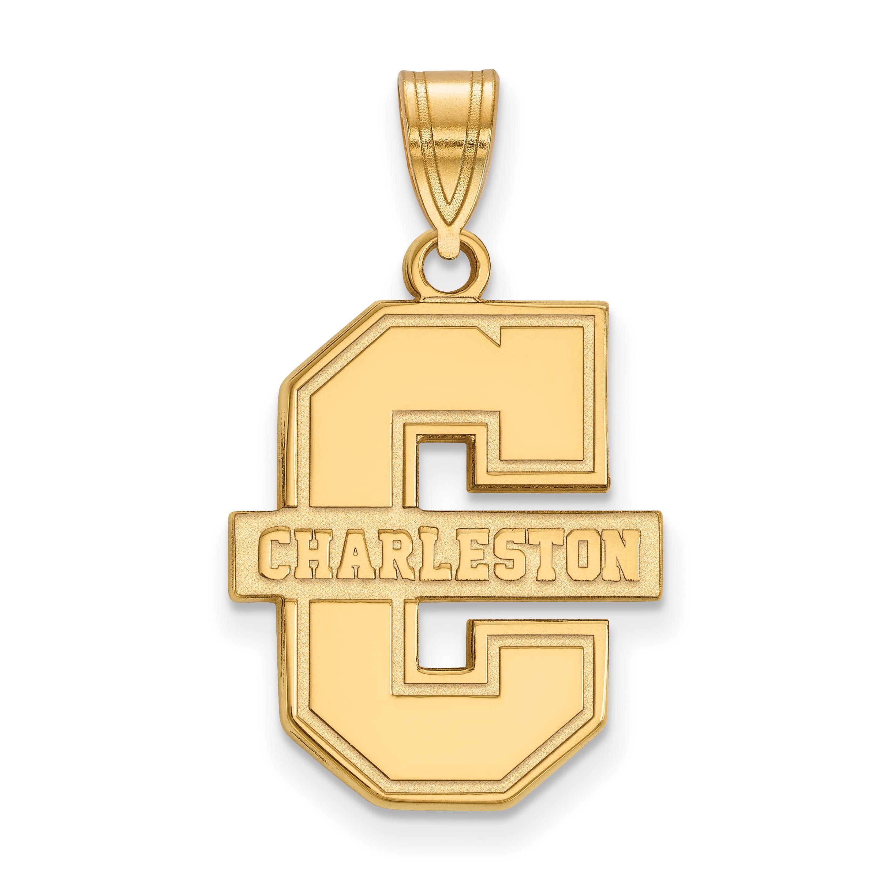10ky LogoArt College of Charleston Large Pendant