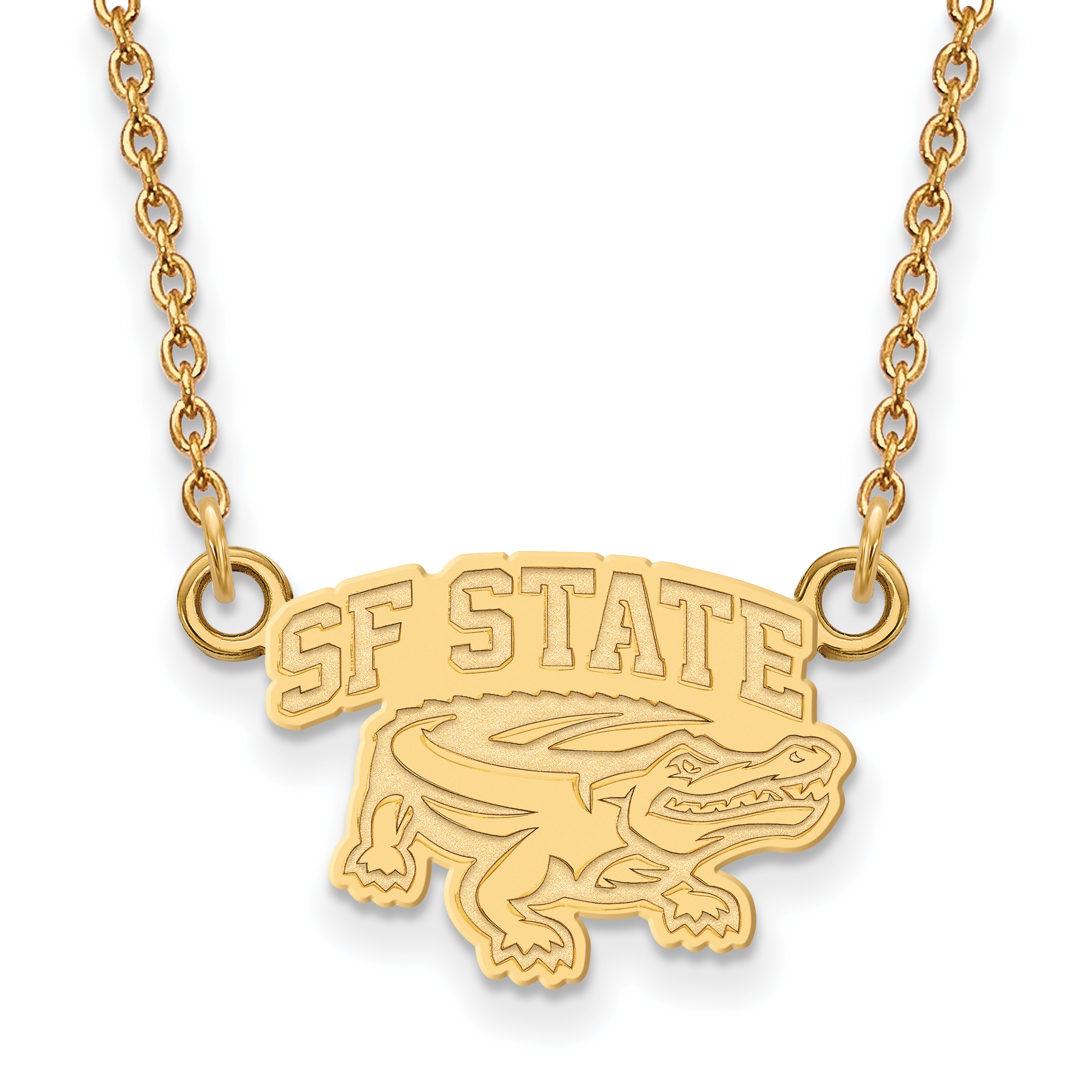 Logoart Sterling Silver Gp San Francisco State University Medium Pendant