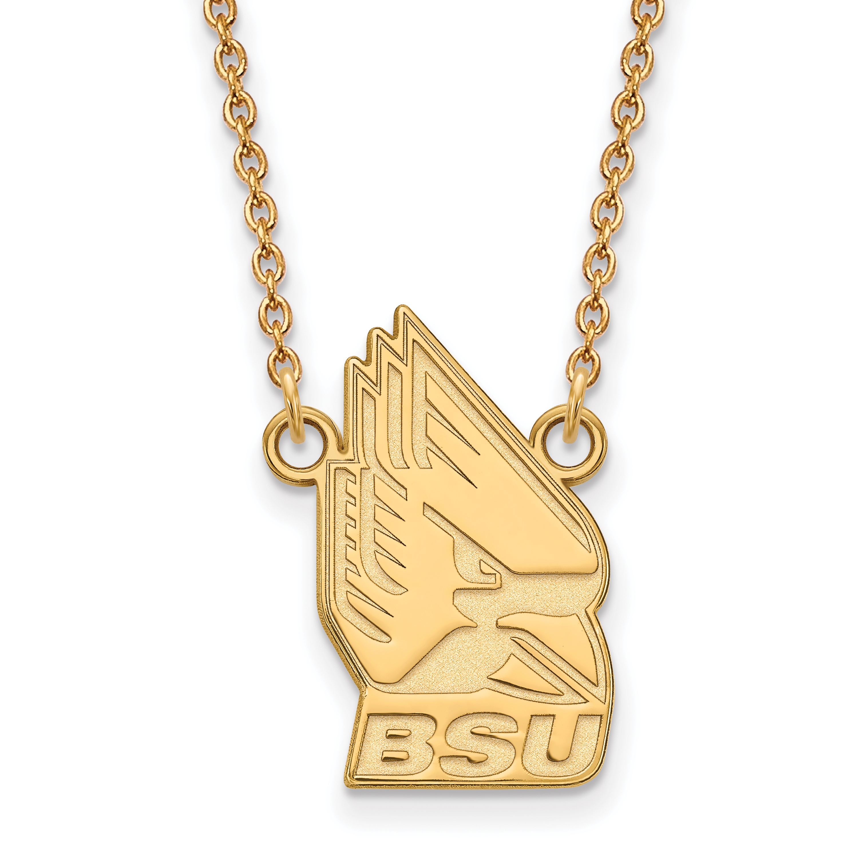 10ky LogoArt Ball State University Large Pendant w/Necklace