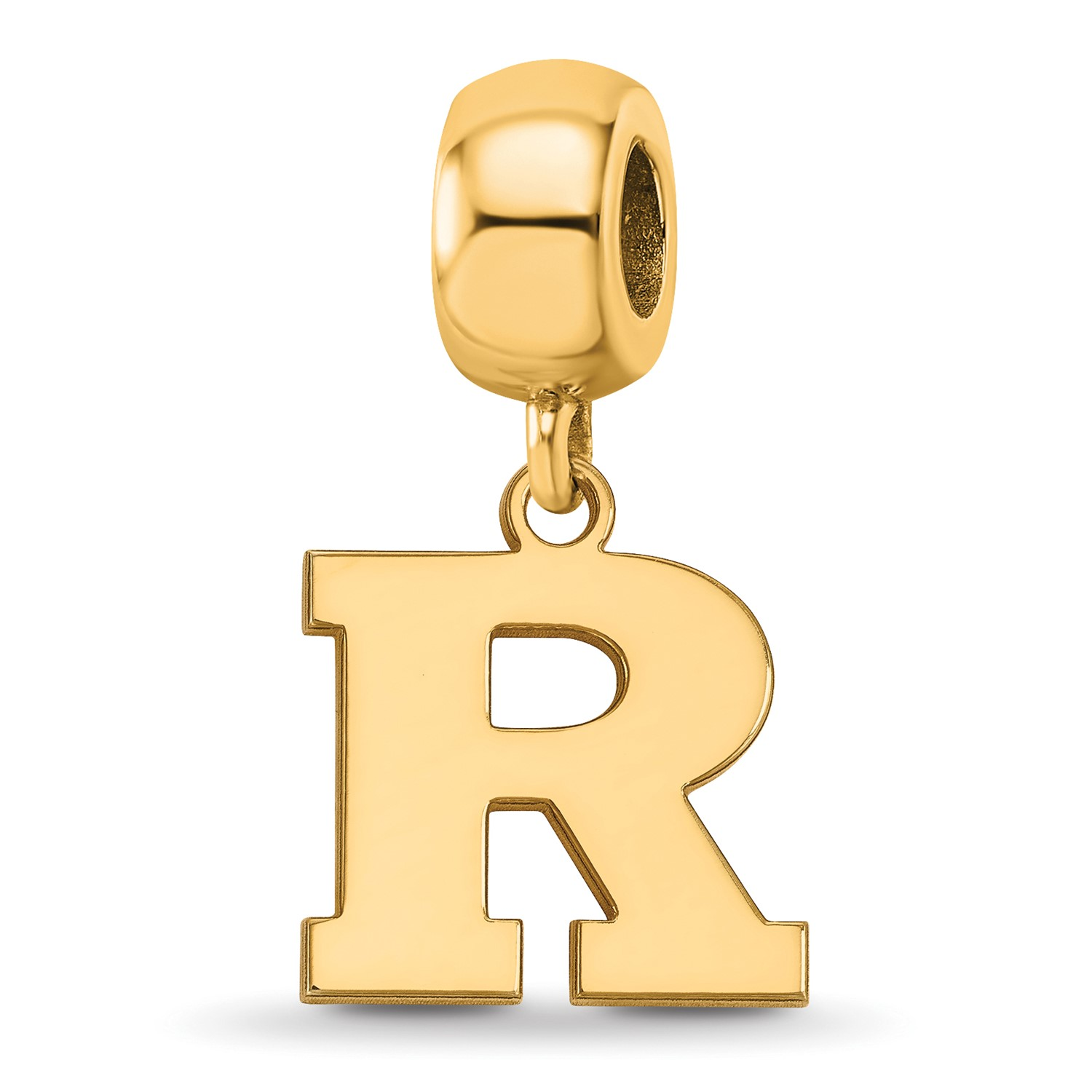 eb387dcc3c06a Stg Silver w  Yellow Gold-Plated Rutgers University (RU) Small ...