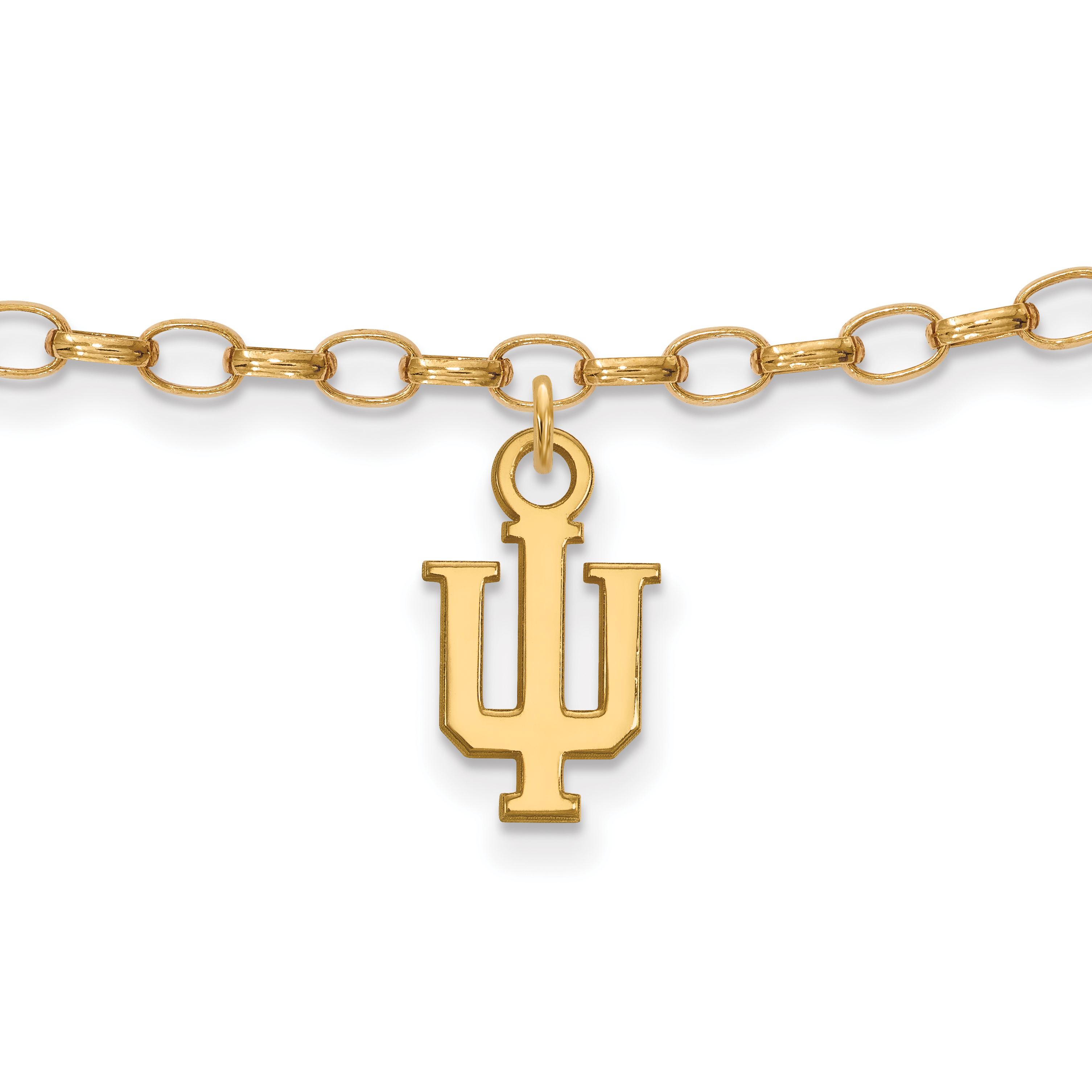 cu 9in Anklet Sterling Silver W/ Yellow Gold-plated Logoart Clemson University