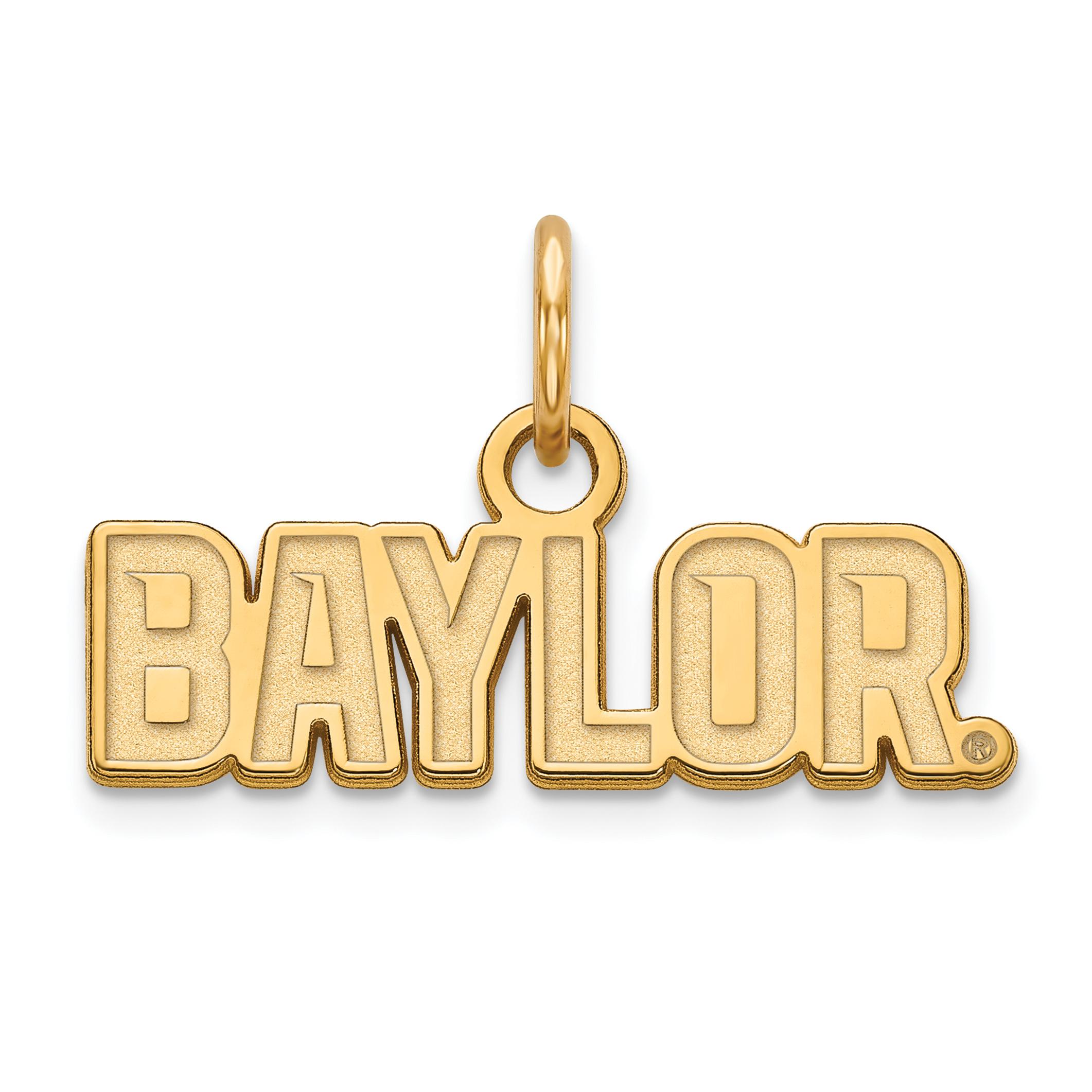 10ky LogoArt Baylor University XS Pendant