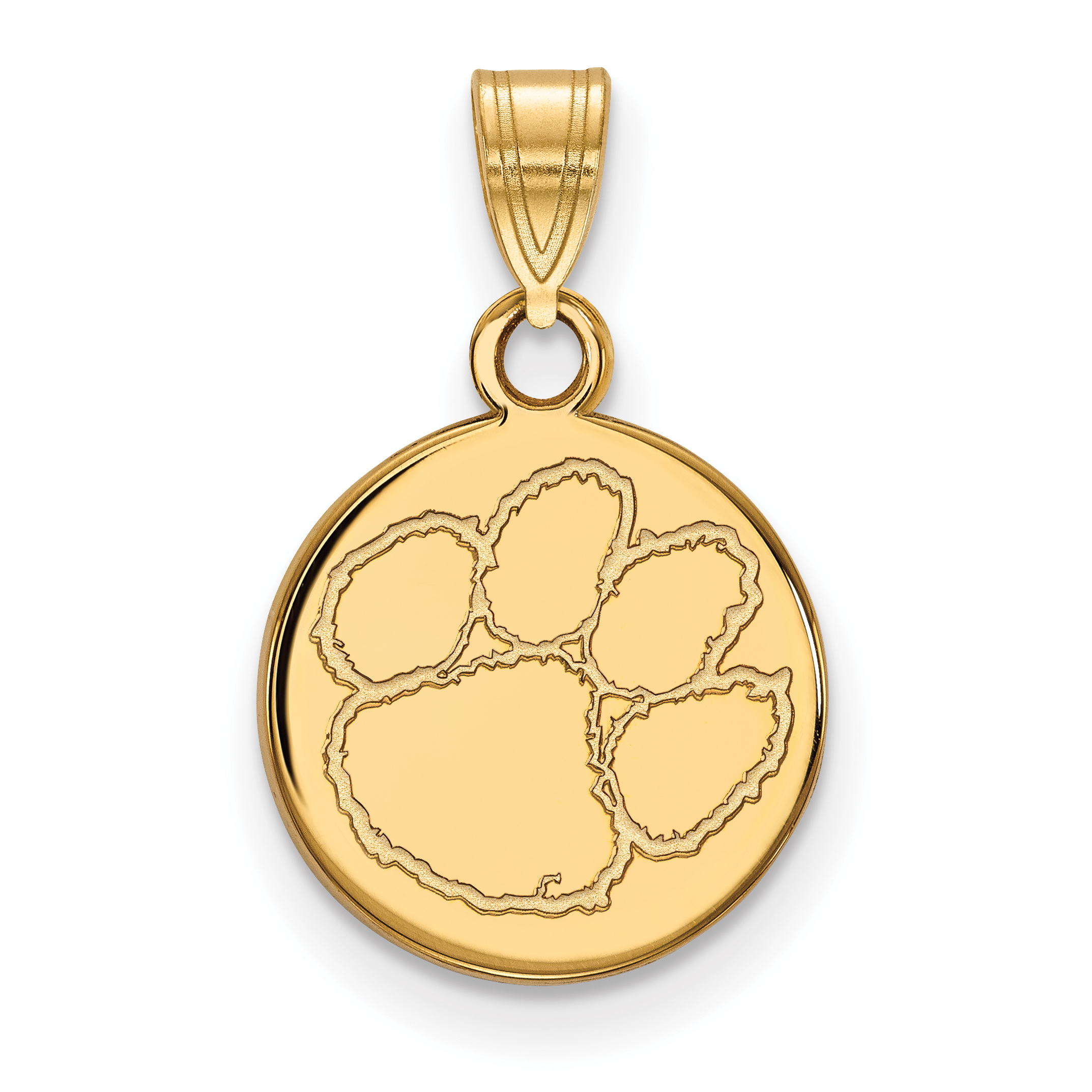 clemson disc p small pendant logoart university
