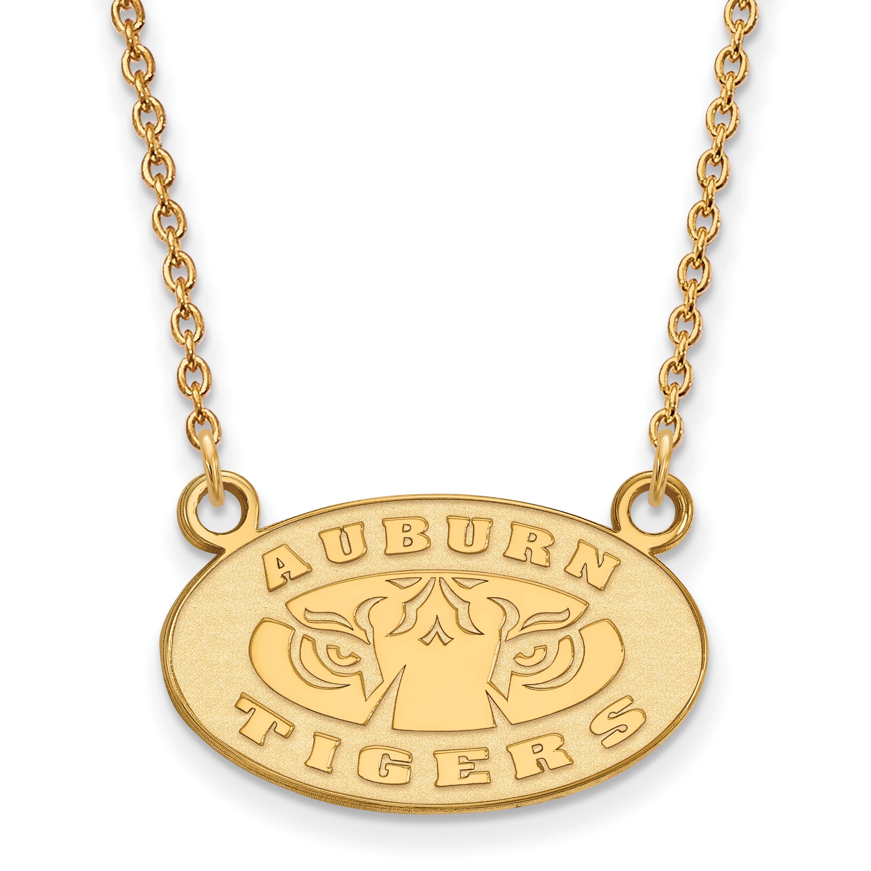 10ky LogoArt Auburn University Small Pendant w/Necklace