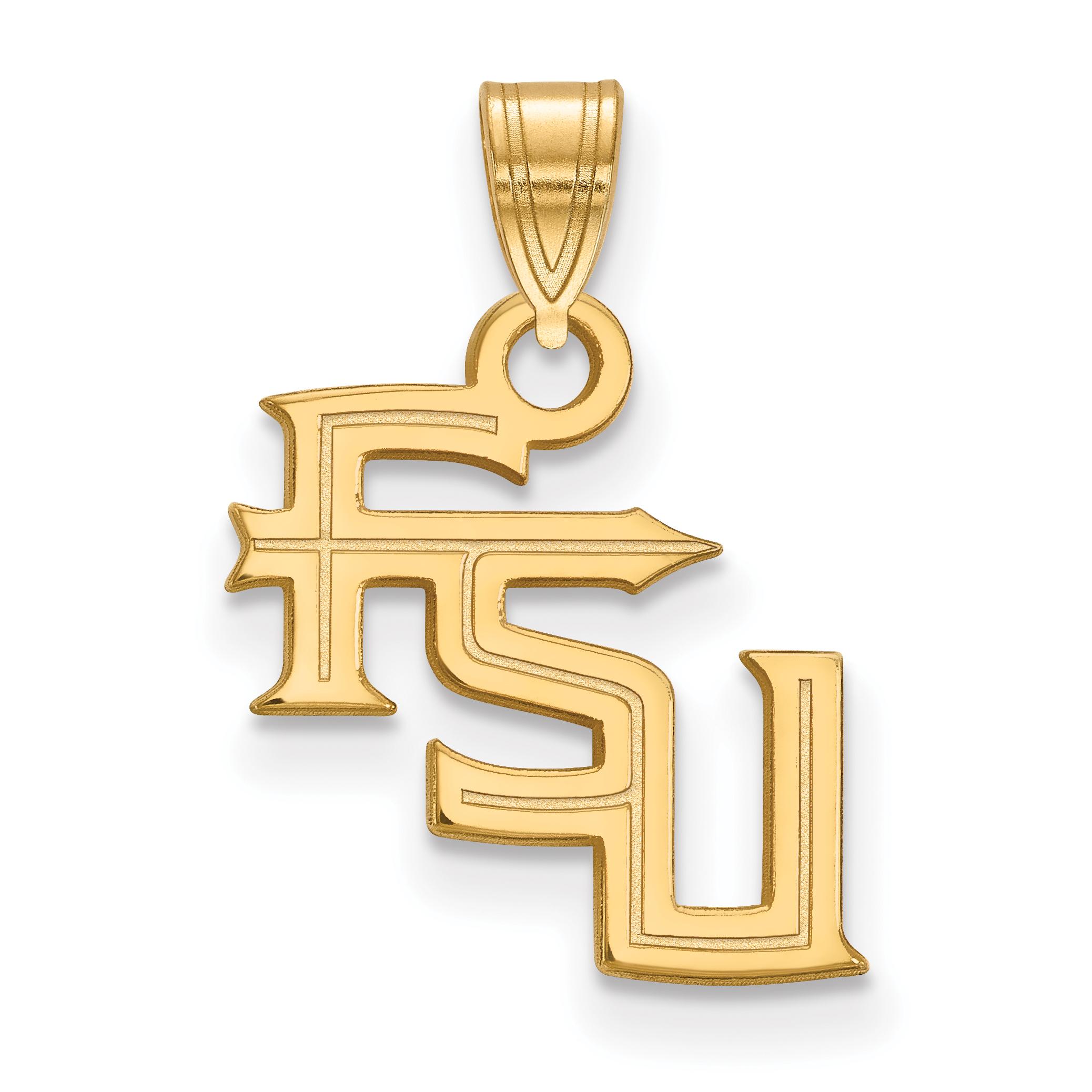 10ky LogoArt Florida State University Small Pendant