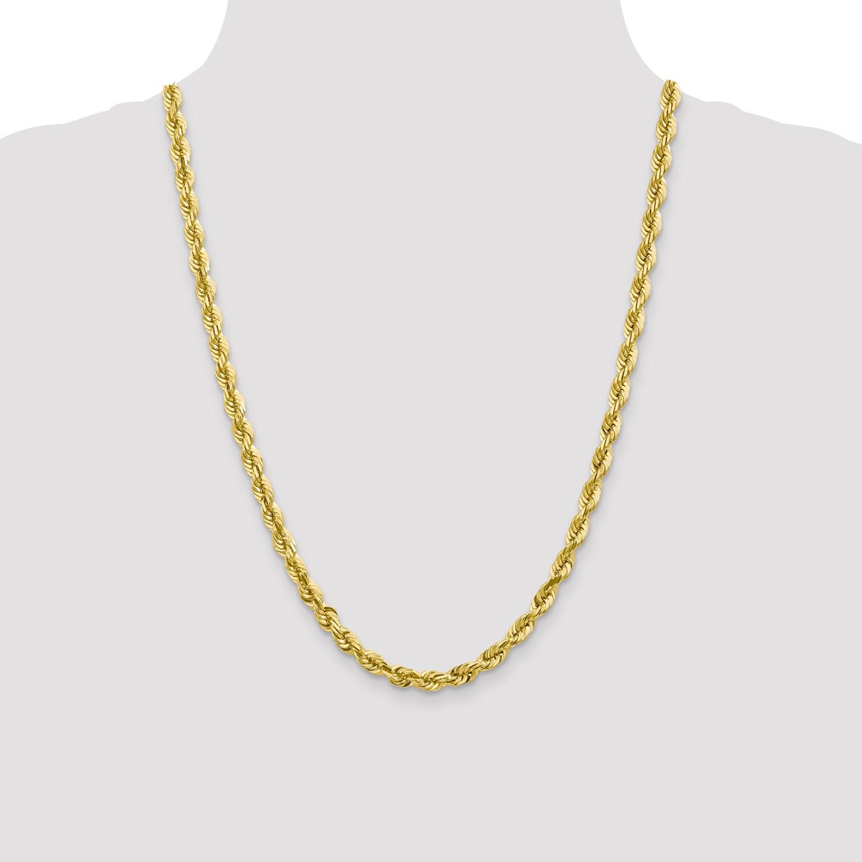 0b3e35dfc22e 10 Quilates Oro Amarillo 24in 6.00mm Talla Diamante Collar de Cuerda ...