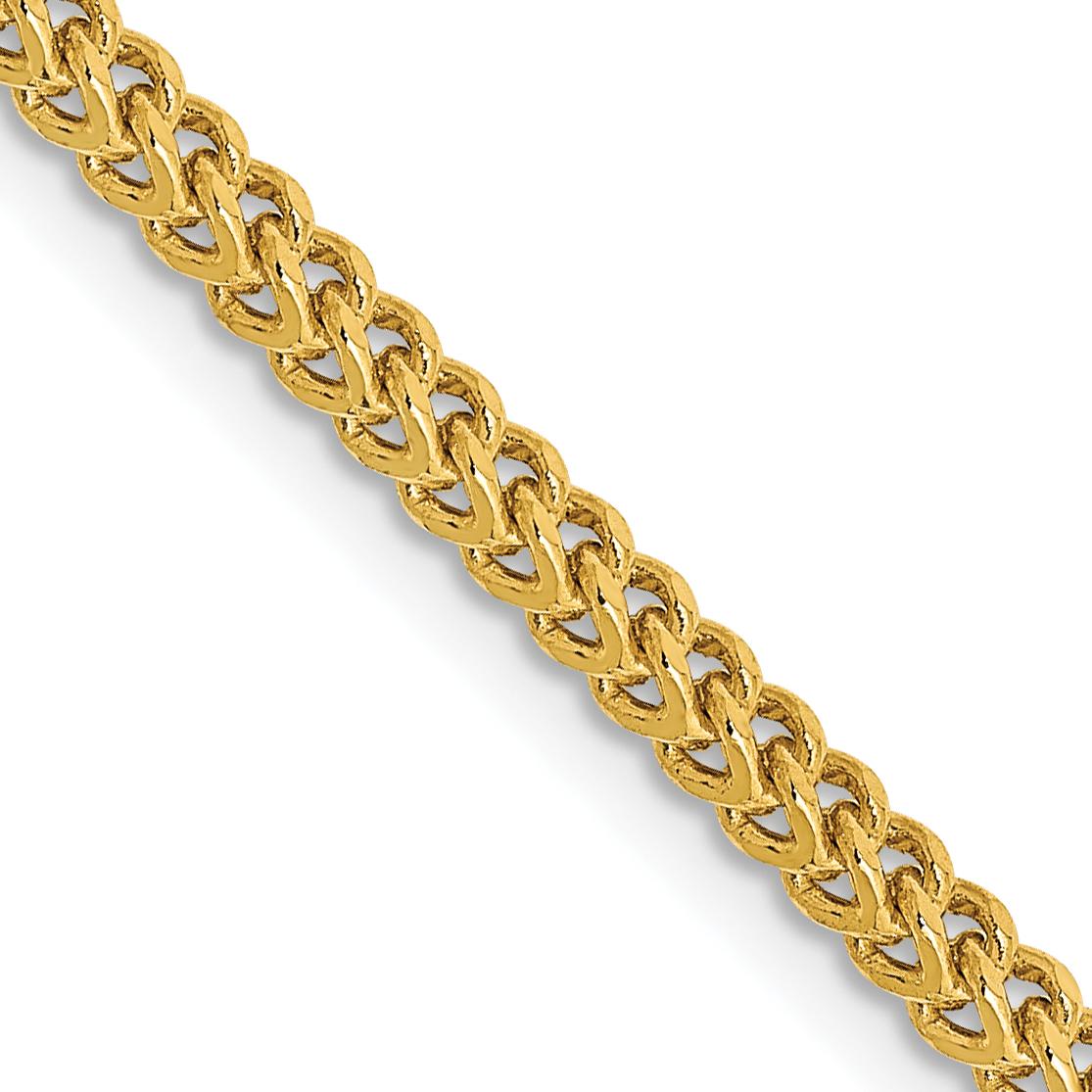 14k 2.2mm Semi-Solid Franco Chain