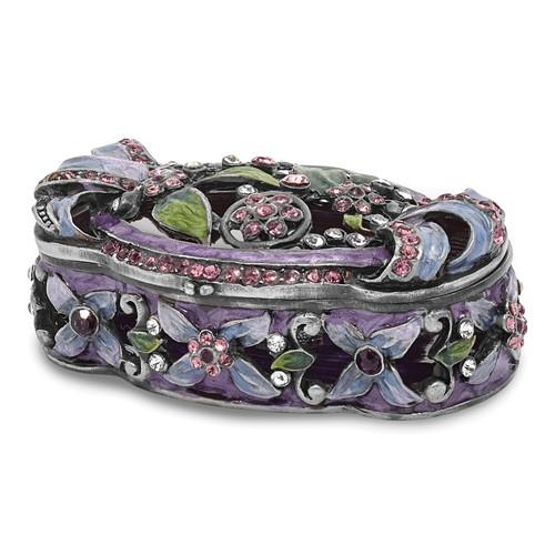 Bejeweled SECRET GARDEN Floral Trunk Trinket Box