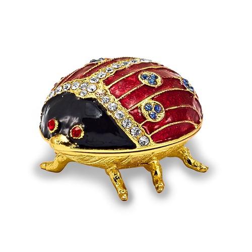 Bejeweled LUXY Ladybug Trinket Box