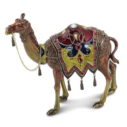 Bejeweled ALI Prince of the Desert Large Camel Trinket Box