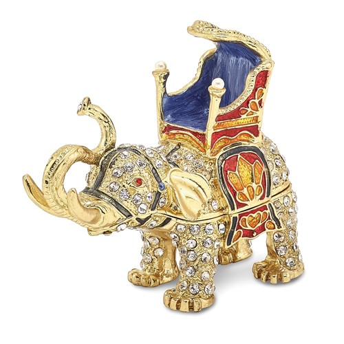 Bejeweled GLORY Majestic Elephant Trinket Box