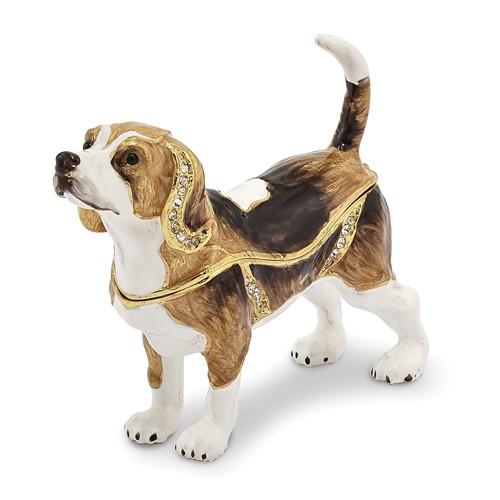 Bejeweled BEAUREGARD Beagle Trinket Box