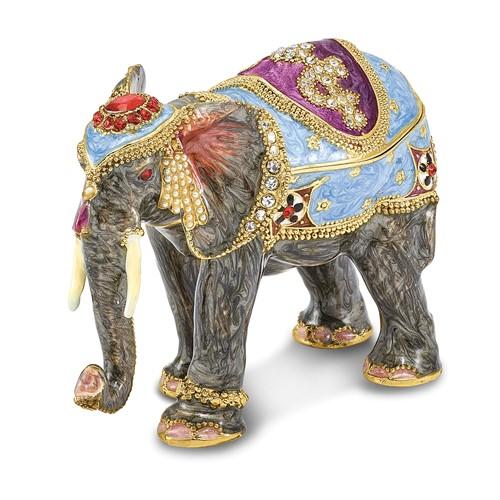 Bejeweled KAT Kathmandu Elephant Trinket Box