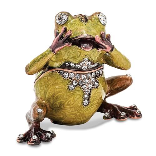 Bejeweled OH MY Expressive Frog Trinket Box