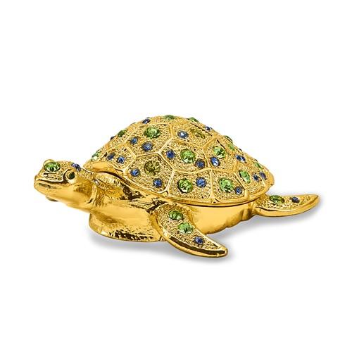 Bejeweled GILDA Golden Sea Turtle Trinket Box