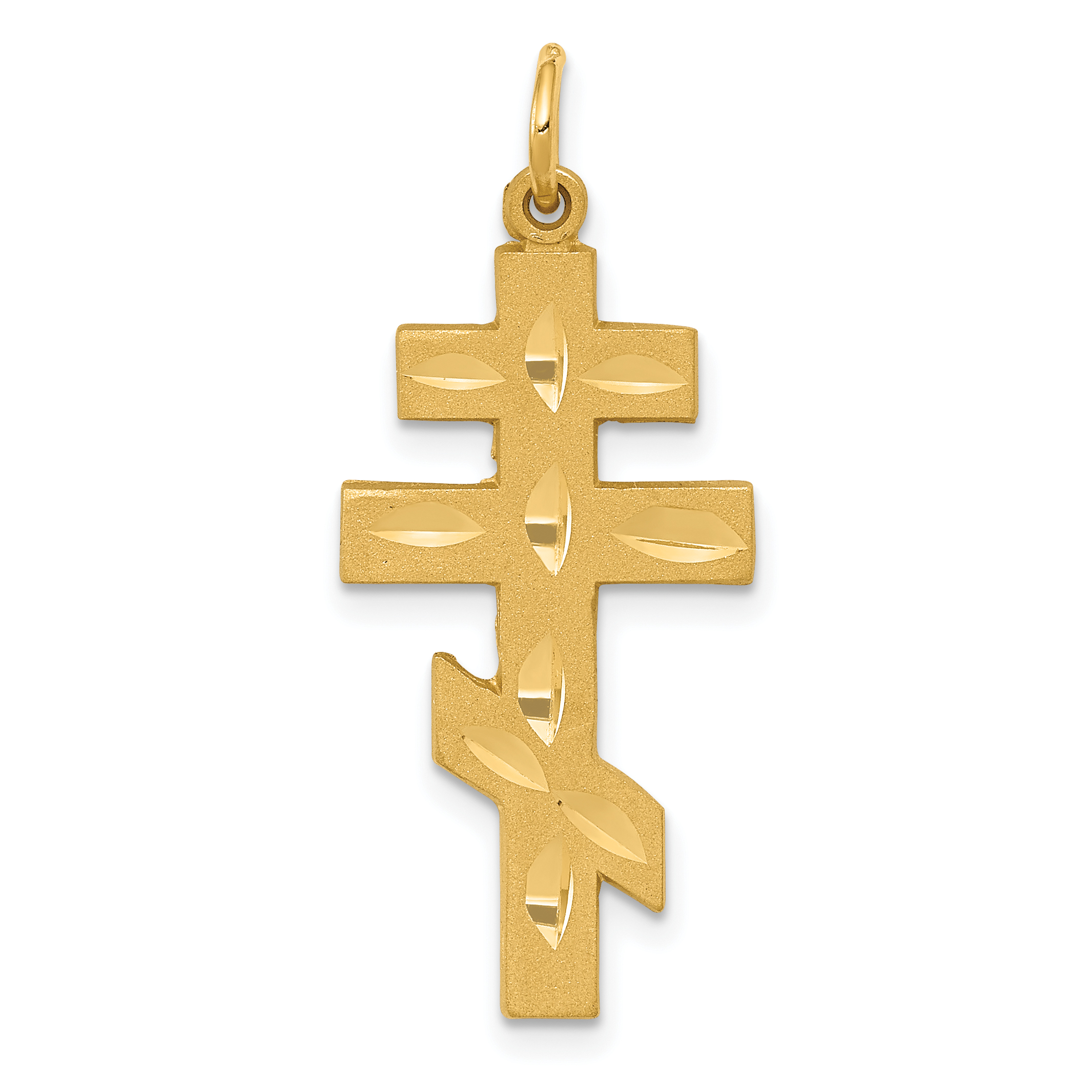 14k Eastern Orthodox Cross Pendant.