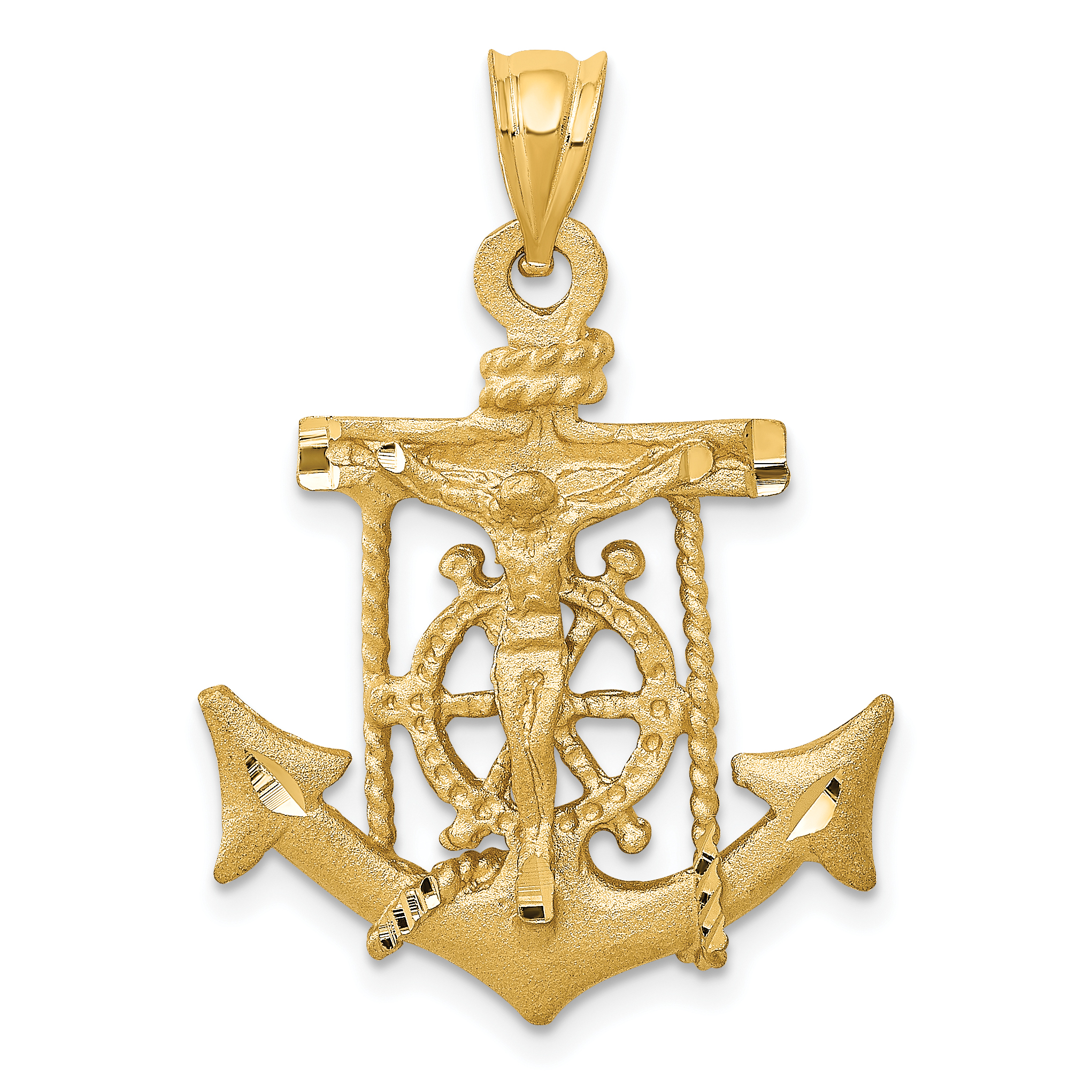 14k Mariners Cross Pendant. Weight: 2.9, Length: 28, Width: 20