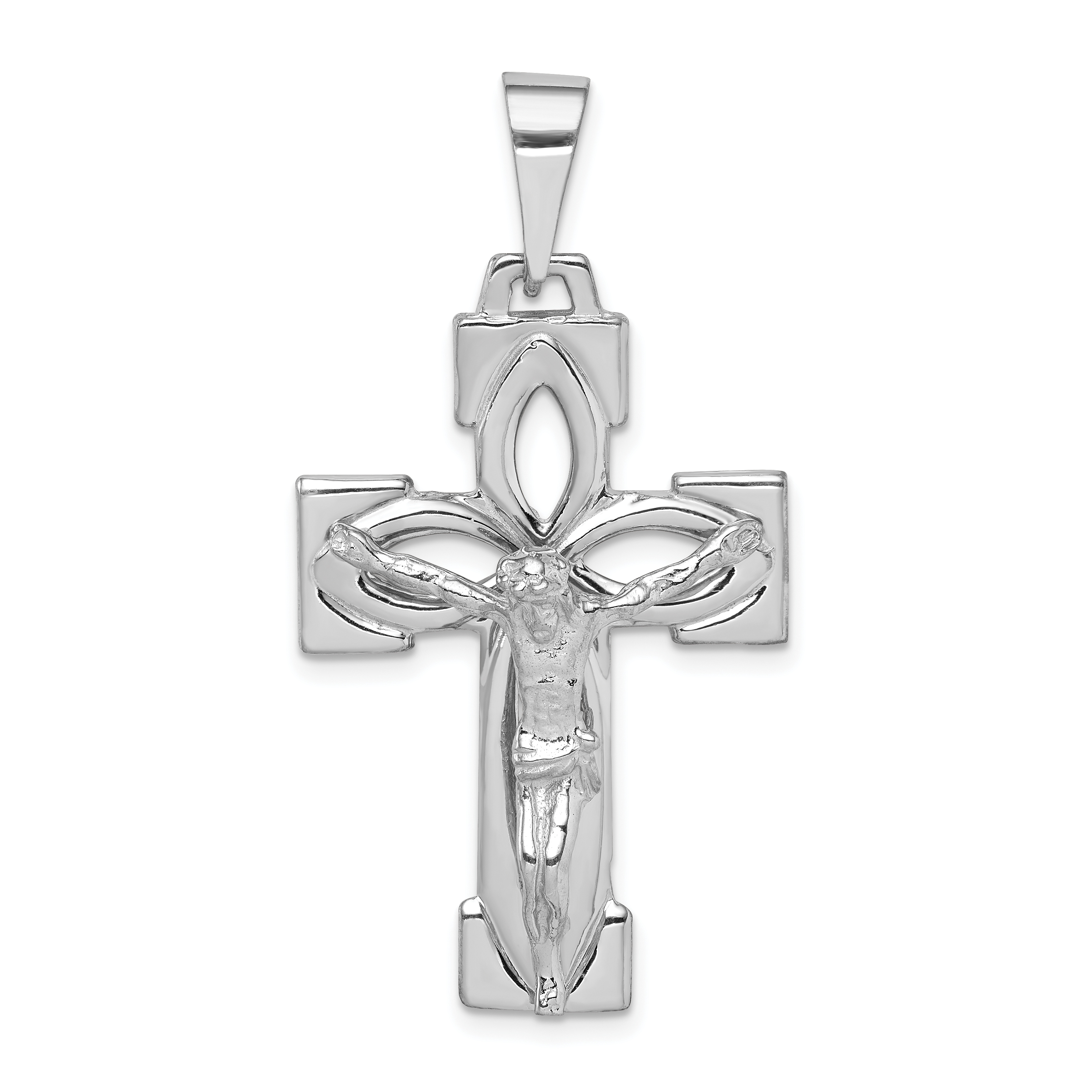 White gold crucifix pendant weight 506 length 48 width 25 14k white gold crucifix pendant weight 506 length 48 width 25 aloadofball Image collections
