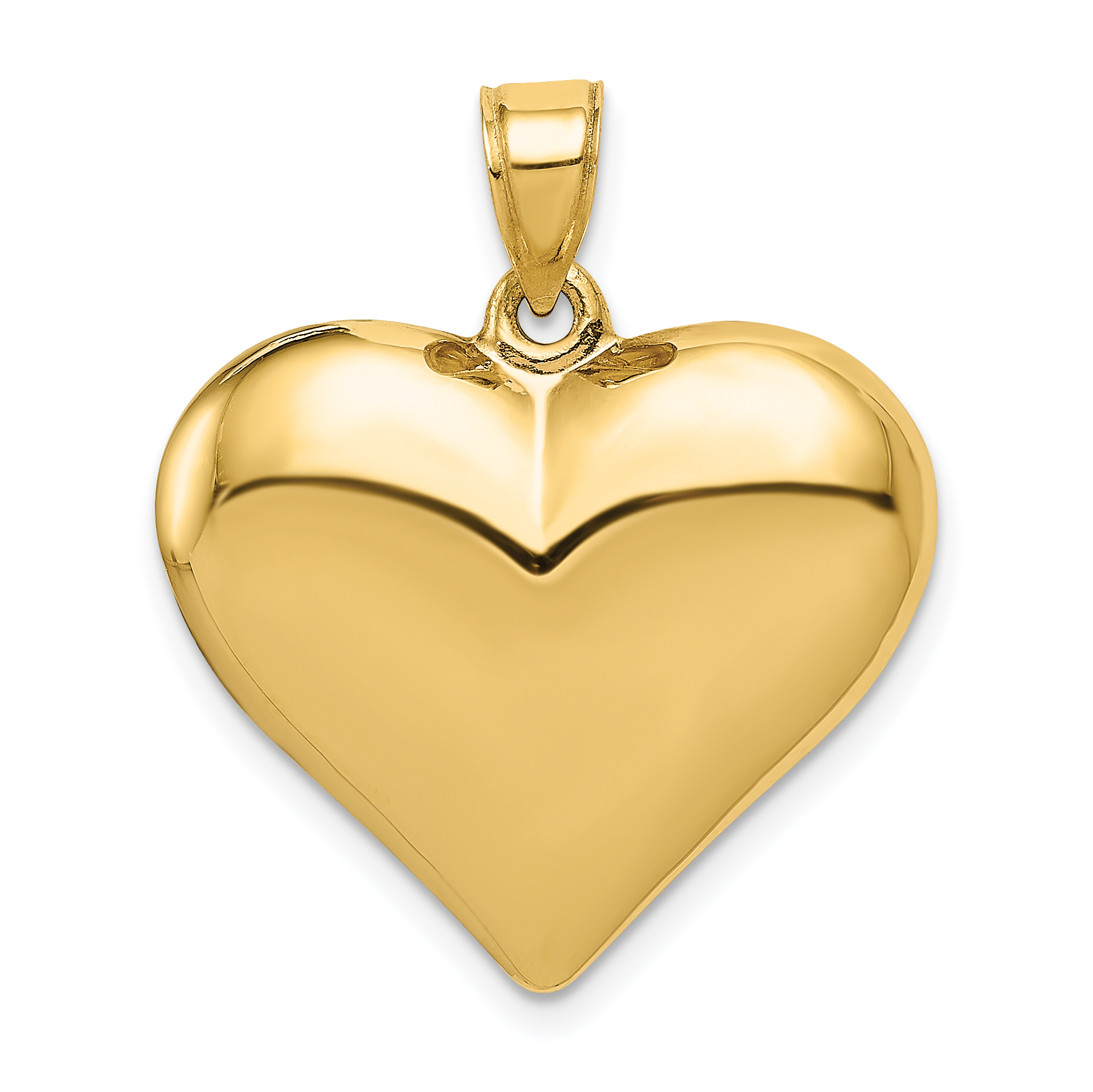 14k Yellow /& Rose Gold Polished I Love You in Heart w//Butterfly Pendant K5851