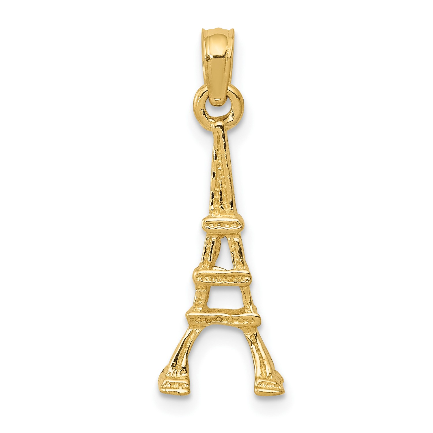 b02c6c0f1 ... charm vintage estate bella antiques and. Thumbnails To Enlarge. 14k  Yellow Gold Eiffel Tower Pendant 0 9in Long