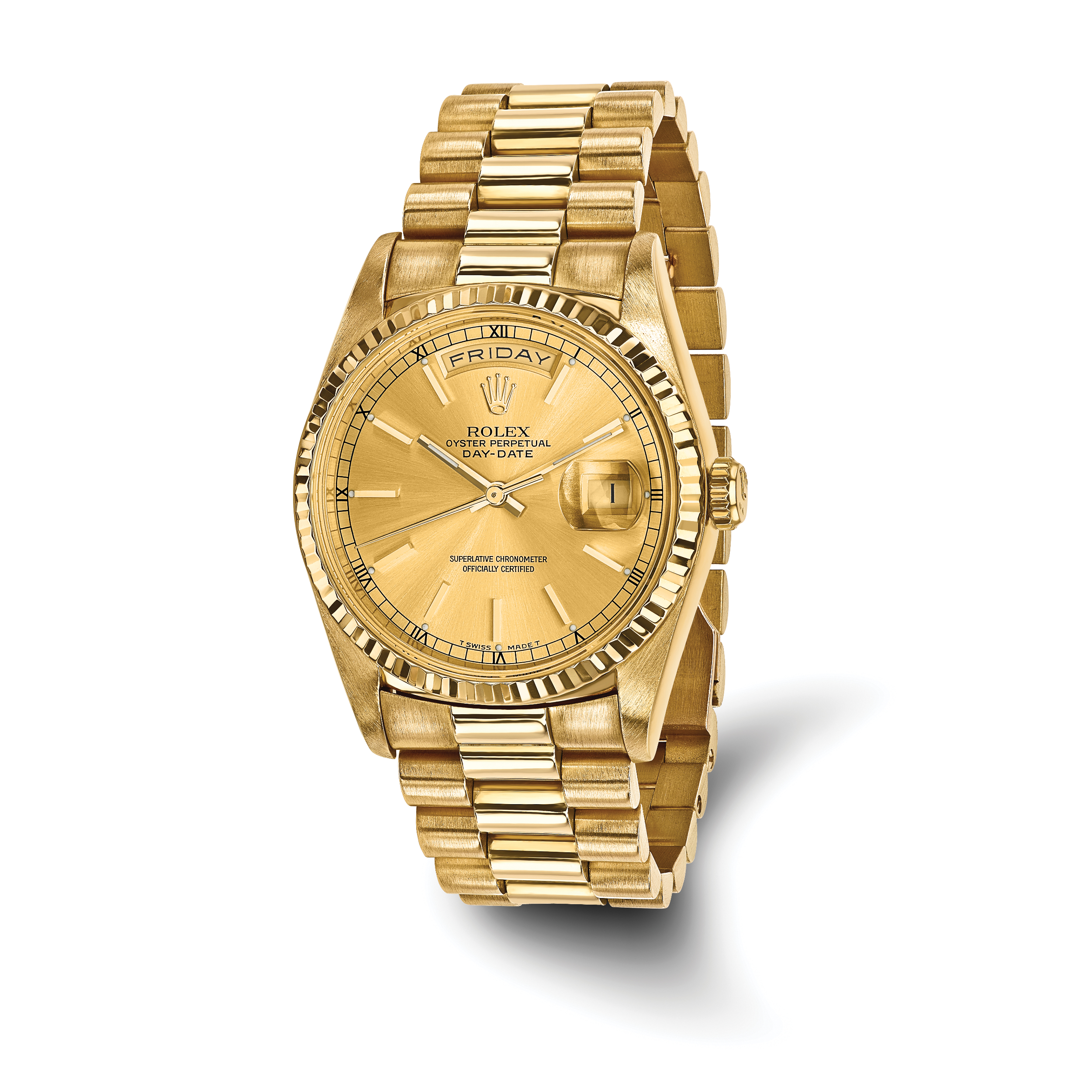 day watch yellow ct presidential date watches gold diamond rolex mens