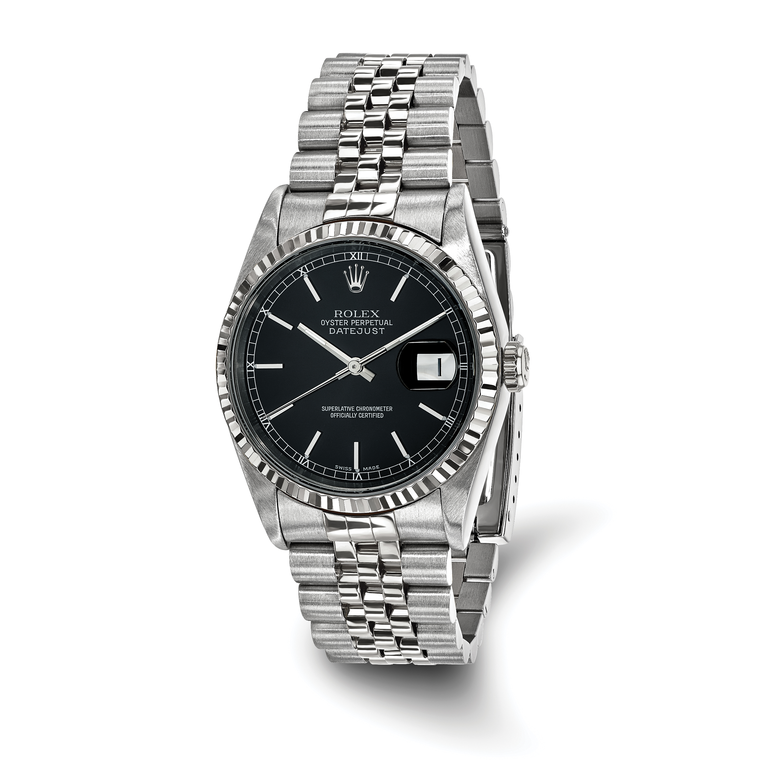 blue datejust stainless watches rolex steel dial image