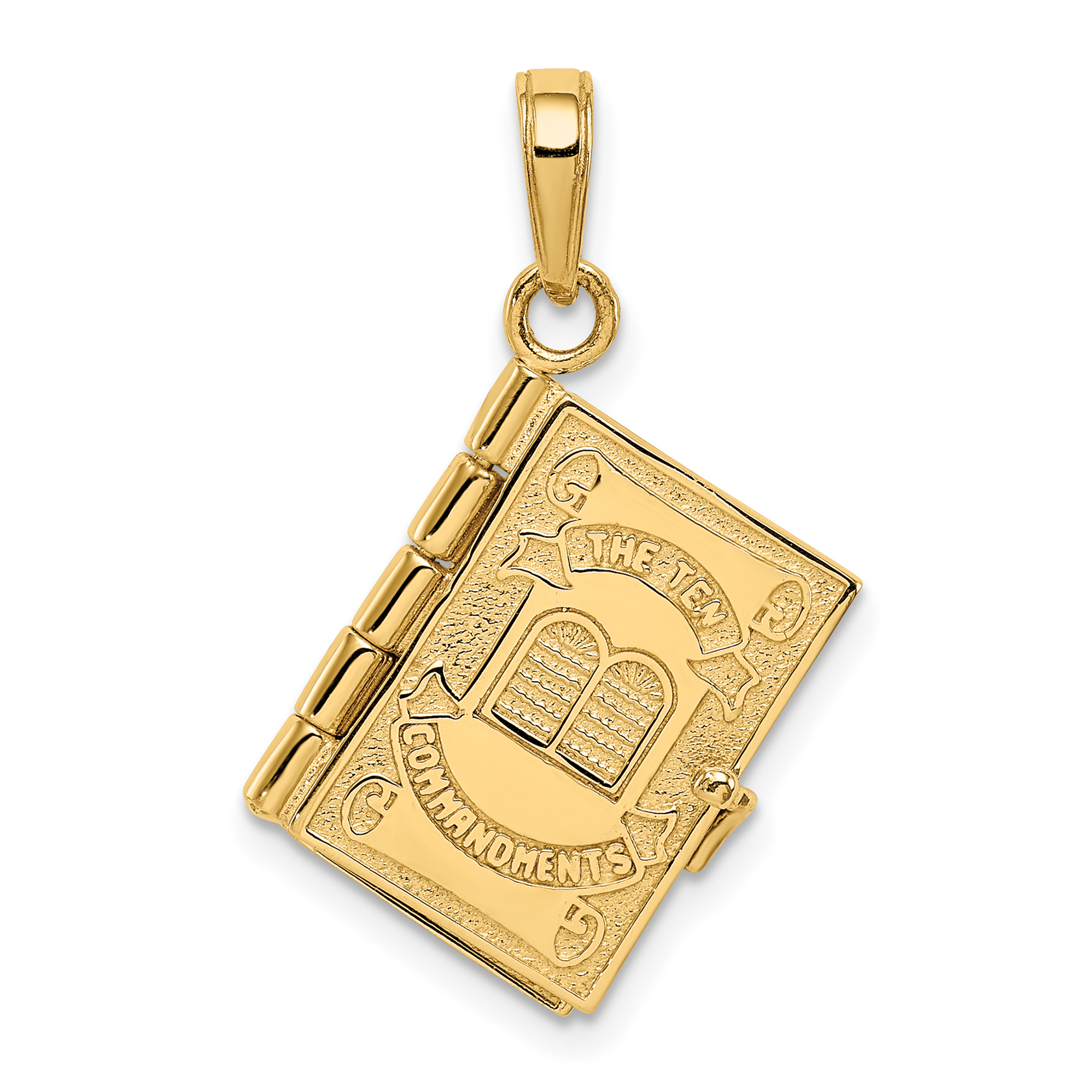 14k ten commandments bible pendant weight length for Zen culture jewelry reviews