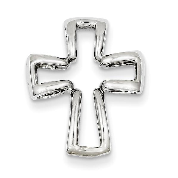 14k White Gold Cross Pendant. Weight: 2.22, Length: 21, Width: 16