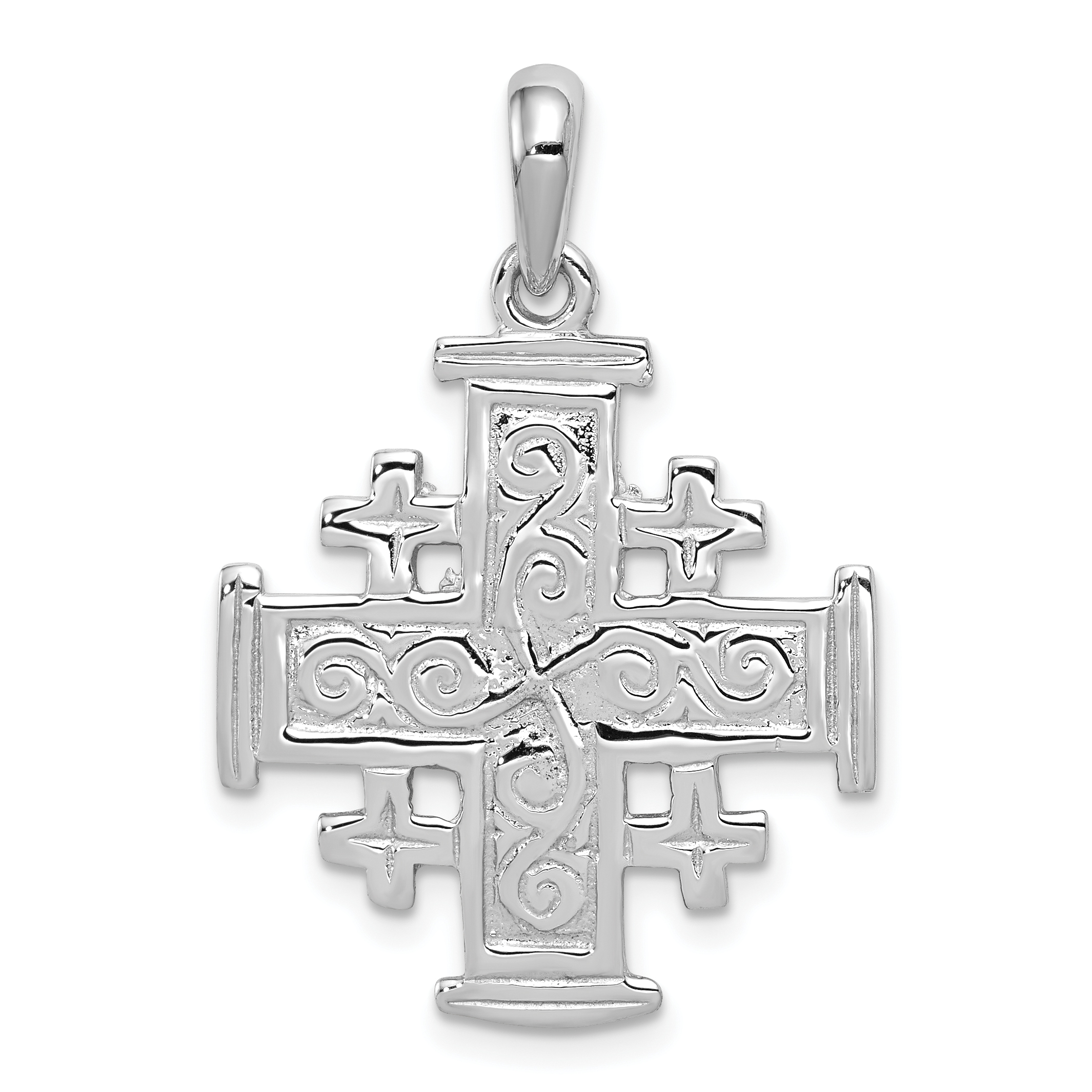 14k white gold jerusalem cross pendant weight 257 length 33 quick view aloadofball Images