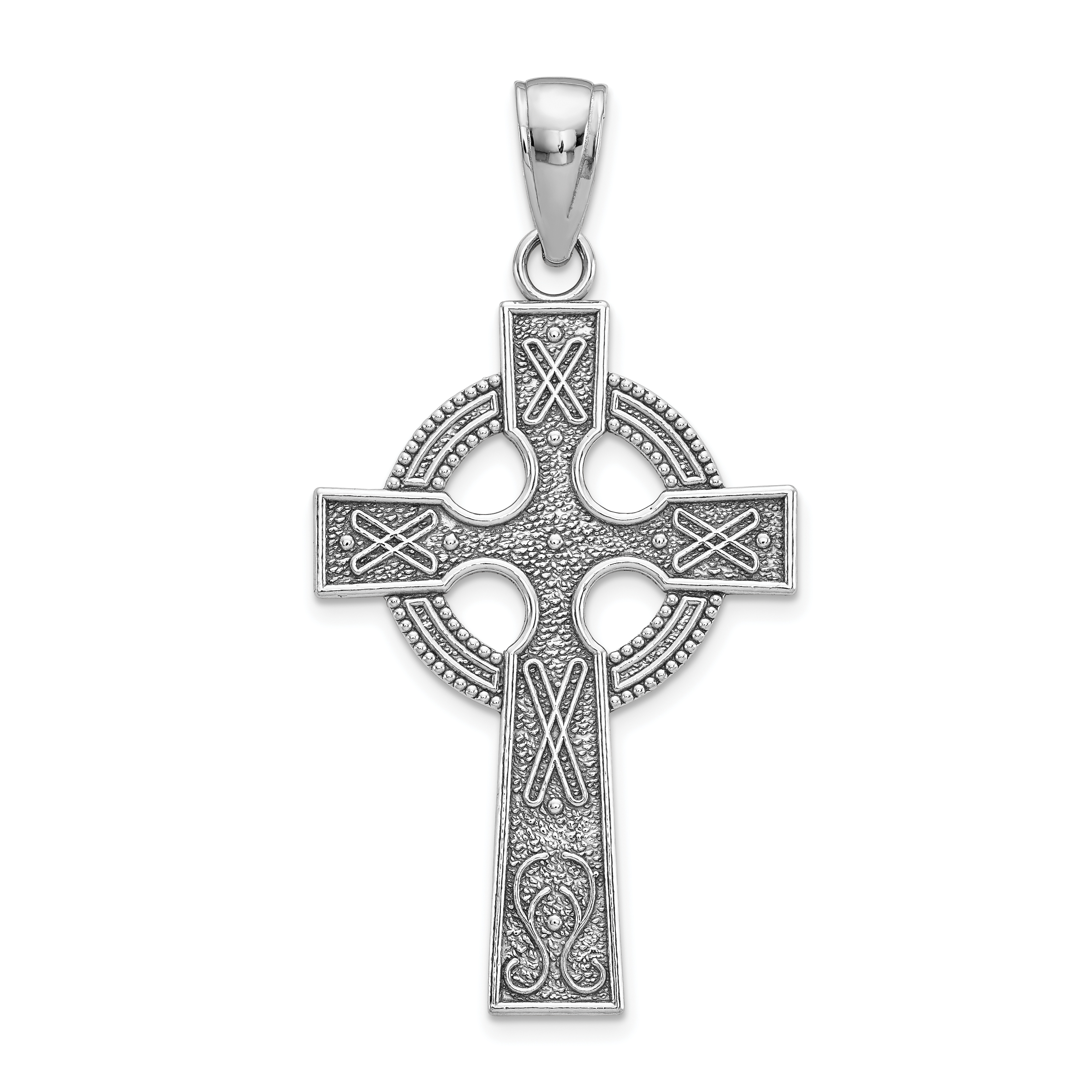 necklace with bead antiqued silver bwq cross large sterling gold celtic pendant