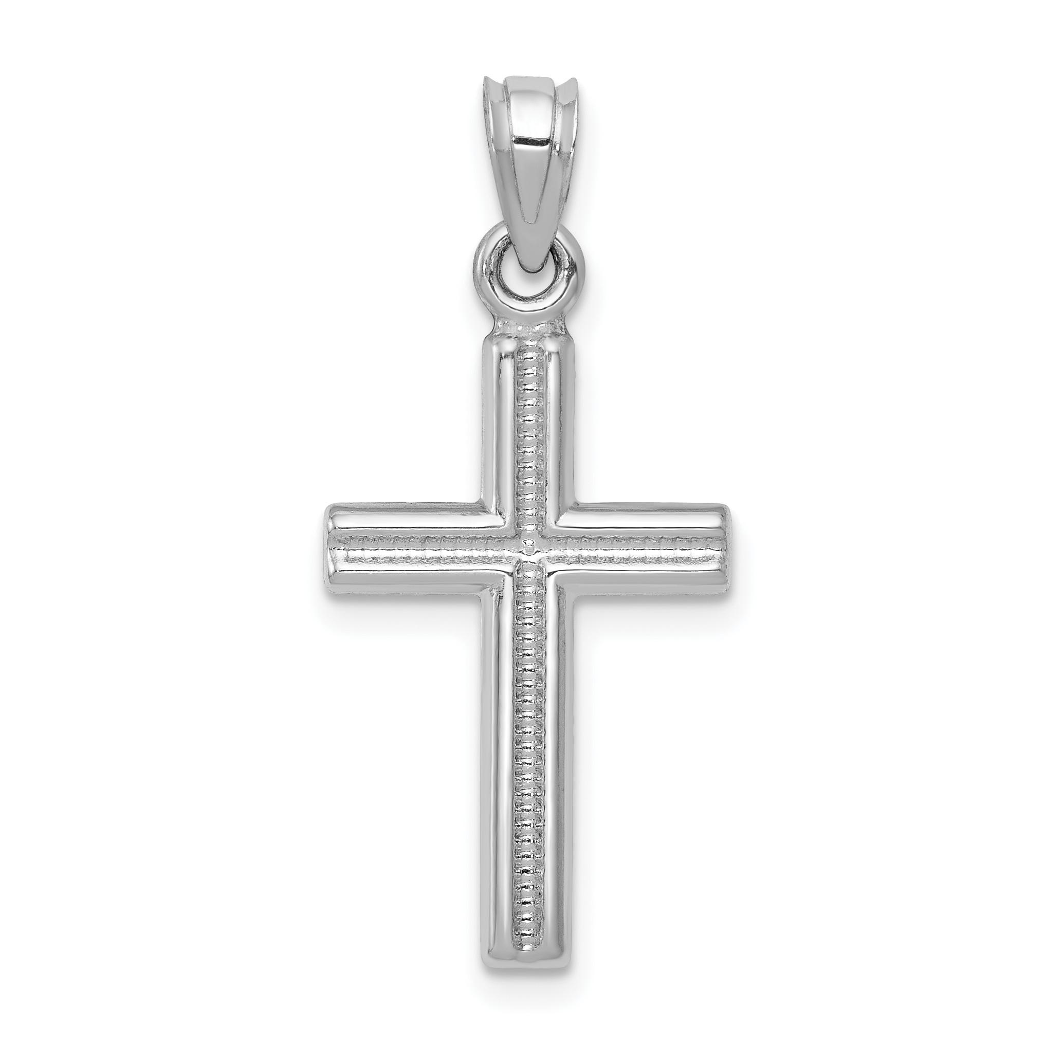 14k white gold cross pendant weight 067 length 29 width 13 aloadofball Images