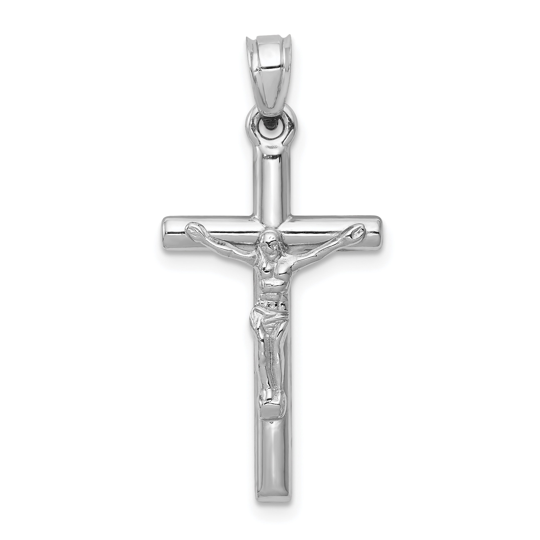 White Gold Crucifix Pendant Weight 072 Length 33 Width 15